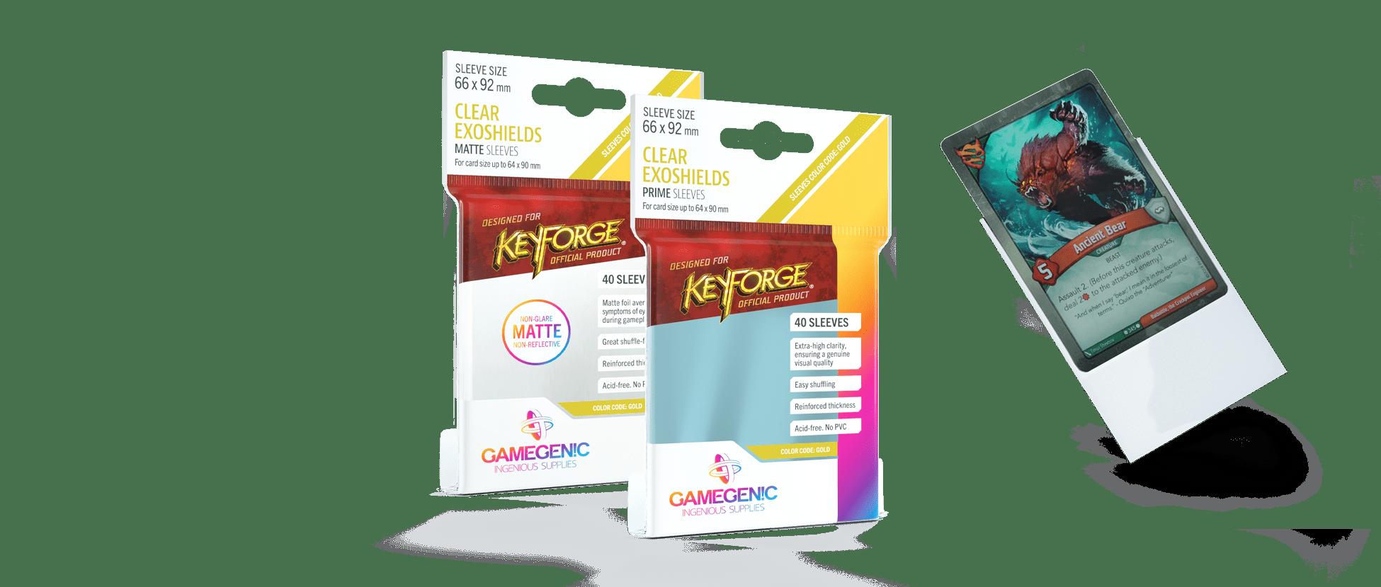 KeyForge CLEAR EXOSHIELDS