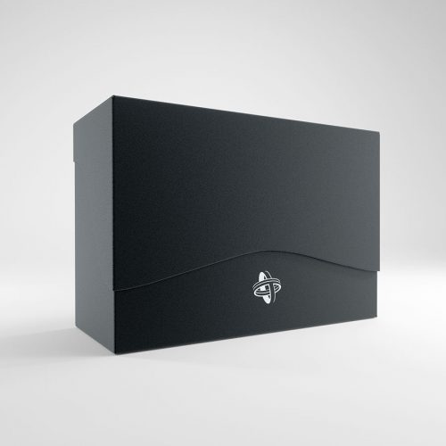 Black 3 Deck Deck Box Optimized for Double Sleeved Cards Keyforge Vault